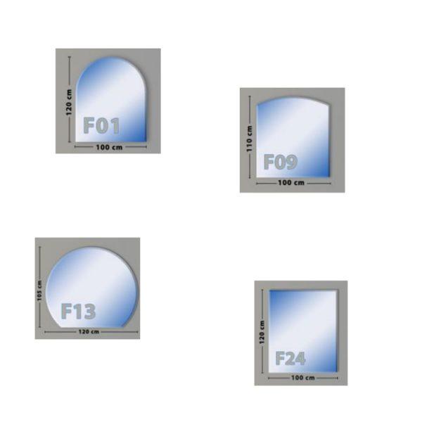 Funkenschutzplatte Glas